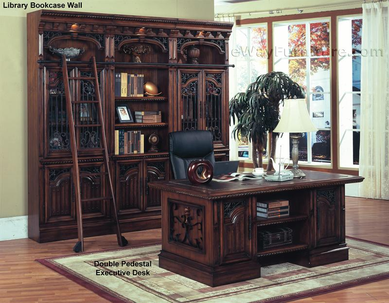 executive desk title parker house barcelona double pedestal executive
