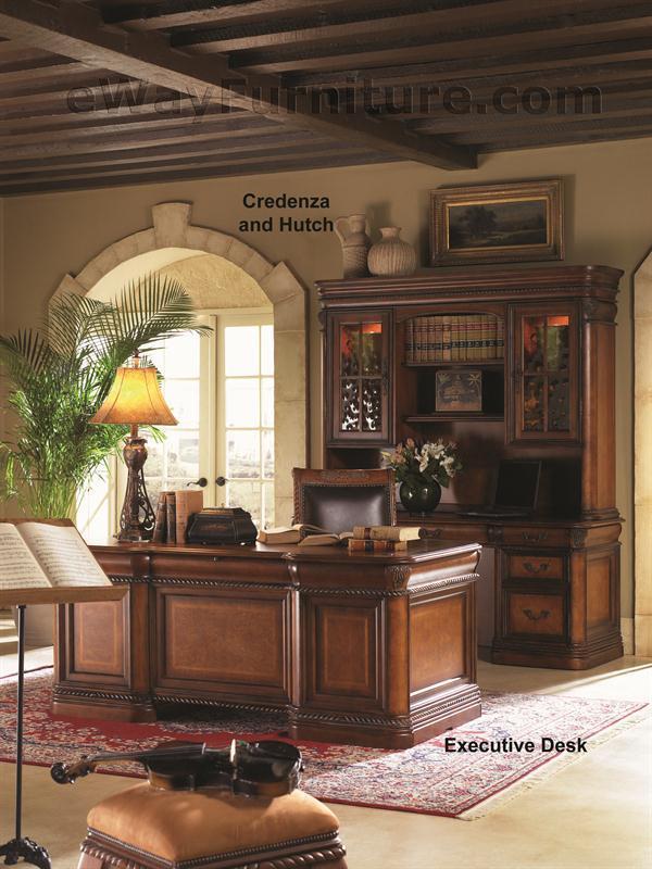 Aspenhome Warm Cherry Executive Modular Home Office: Vineyard Executive Office Desk