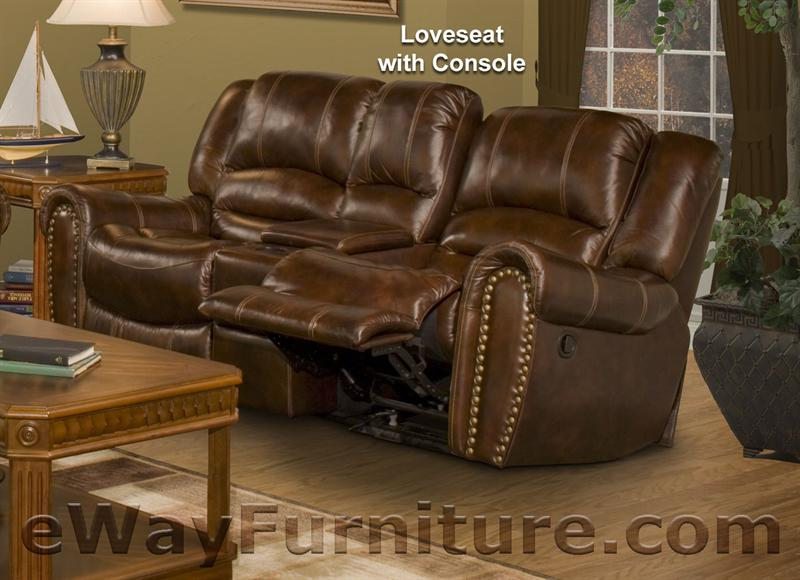 Parker Living Neptune Leather Dual Recliner Loveseat With