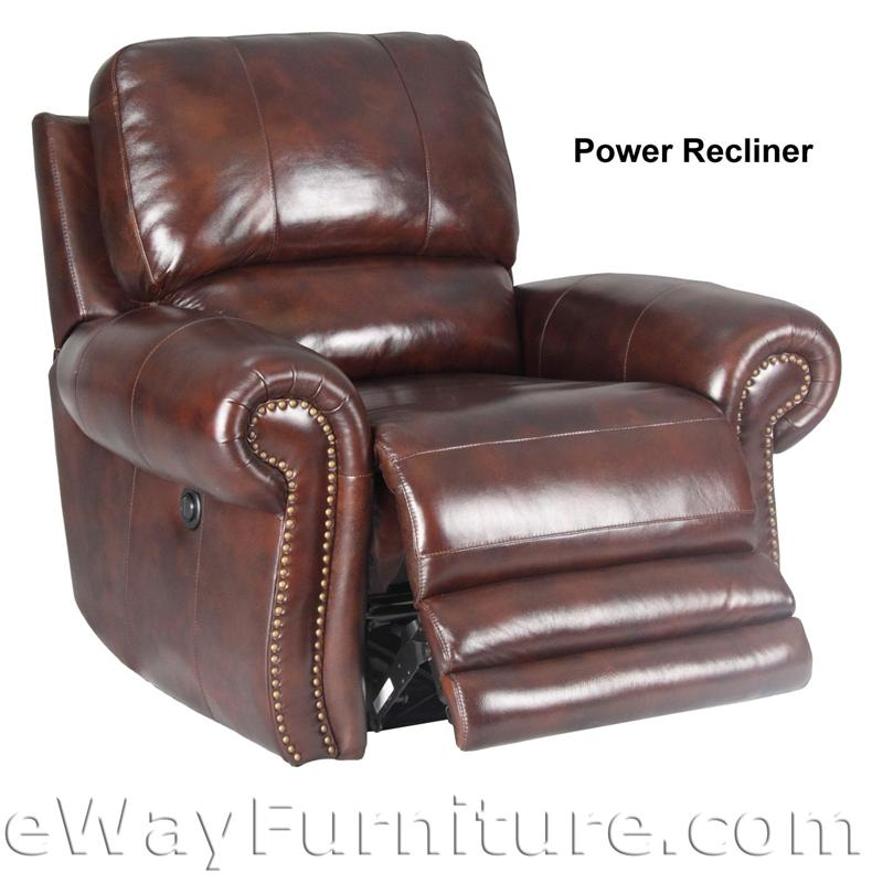 Parker Living Thor Leather Power Dual Recliner Sofa