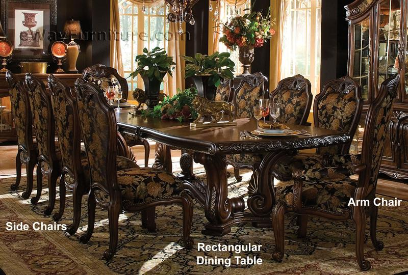 Casablanca rectangular dining table for Fancy dining table set