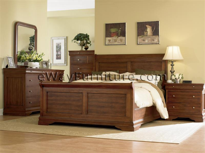 Black Cherry Panel Bedroom Set