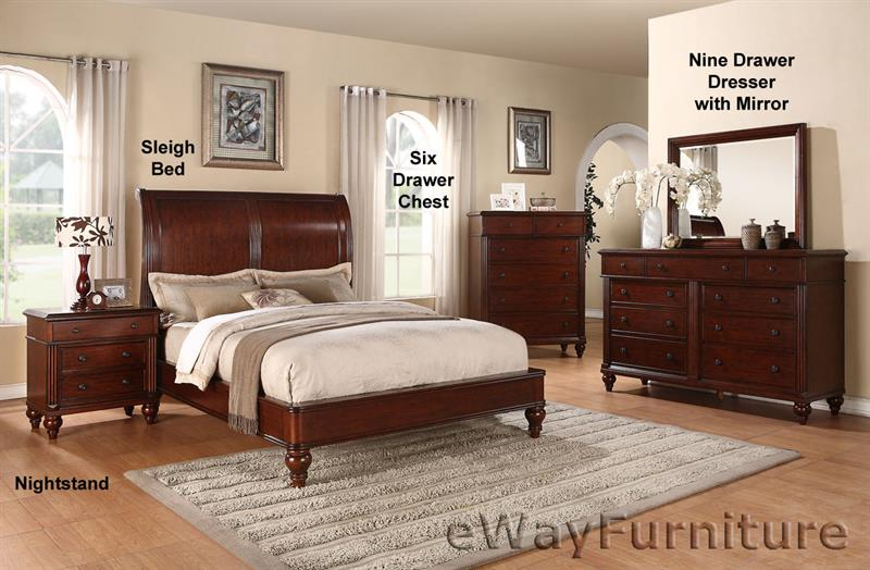cheshire british colonial sleigh bed bedroom furniture set