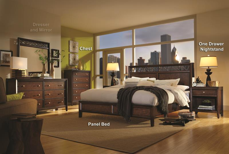Millennium contemporary urban king panel master bedroom - Contemporary bedroom sets for sale ...
