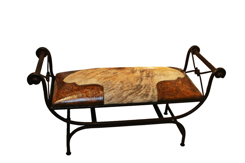 Hair On Hide Bench Colonial Corners Double Vanity Bench