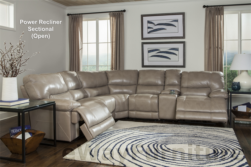 Parker Living Comfortable And Durable Socrates Power Recliner Sectional In Latte Ebay