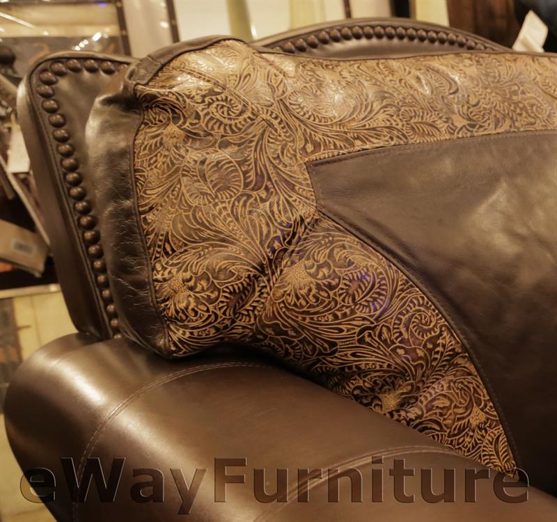 El Dorado 100% Hand Cut Top Grain Leather Sofa Made In USA