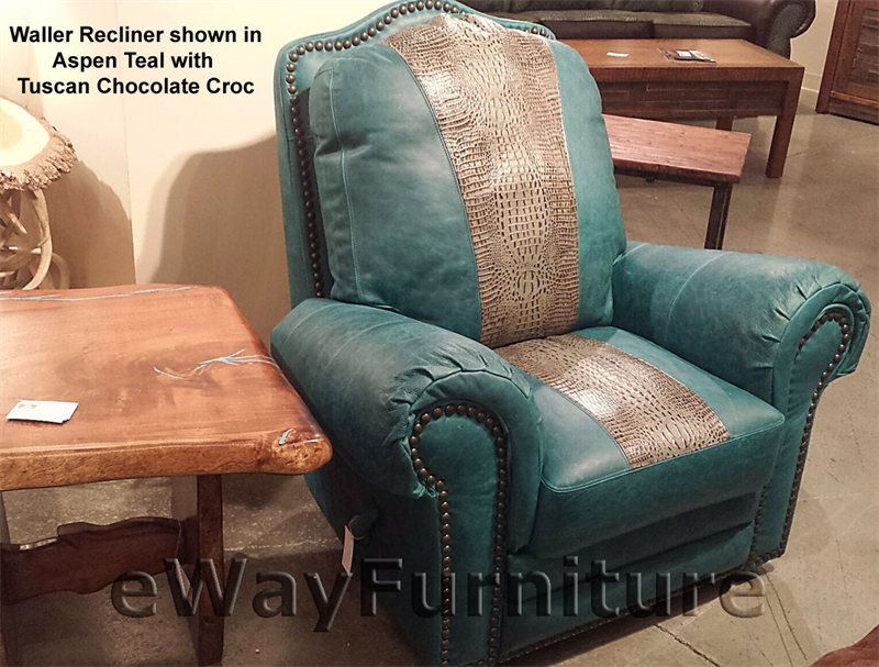 Swivel Glider Chairs Living Room Furniture And Tuscan Chocolate Croc Top Grain Leather