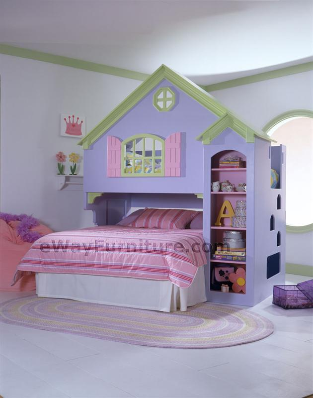 Purple Doll House Bunk Bed