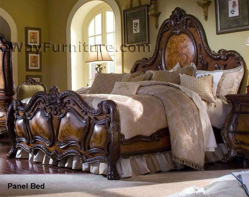 french rococo panel bedroom set