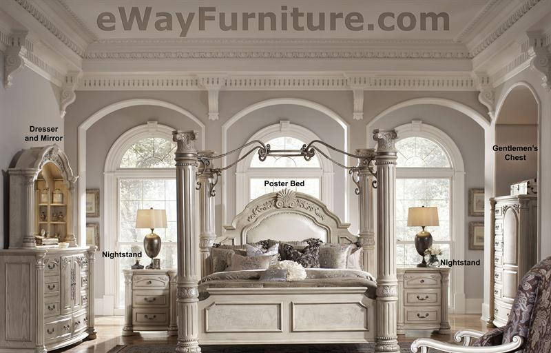 Queen poster bed with canopy - Iron bedroom sets ...