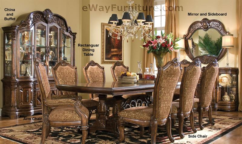 7 PC English Formal Dining Room Furniture Table SetCALL TODAY LOW
