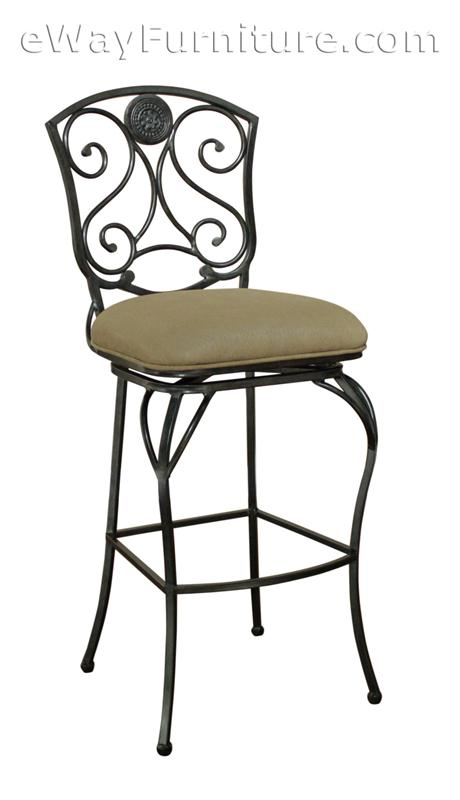 2 Beau Metal Swivel 34 Quot Extra Tall Bar Height Bar Stools