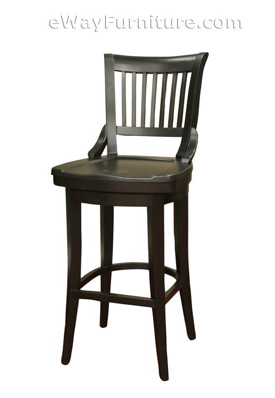 Rich onyx quot extra tall wood swivel bar stools